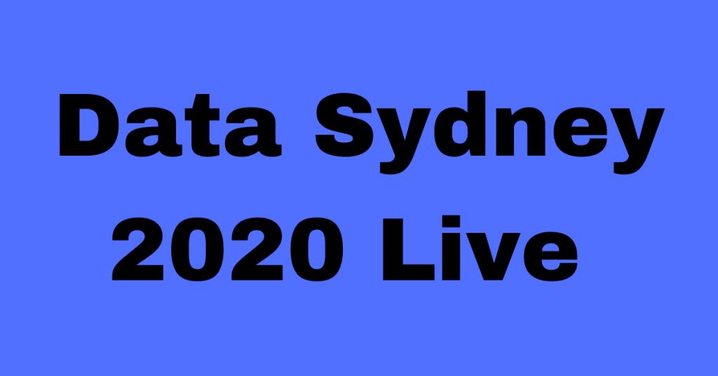 Data Sydney 2020 Live – (Full)